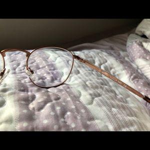 Rose Gold Blue Light Glasses (no prescription)